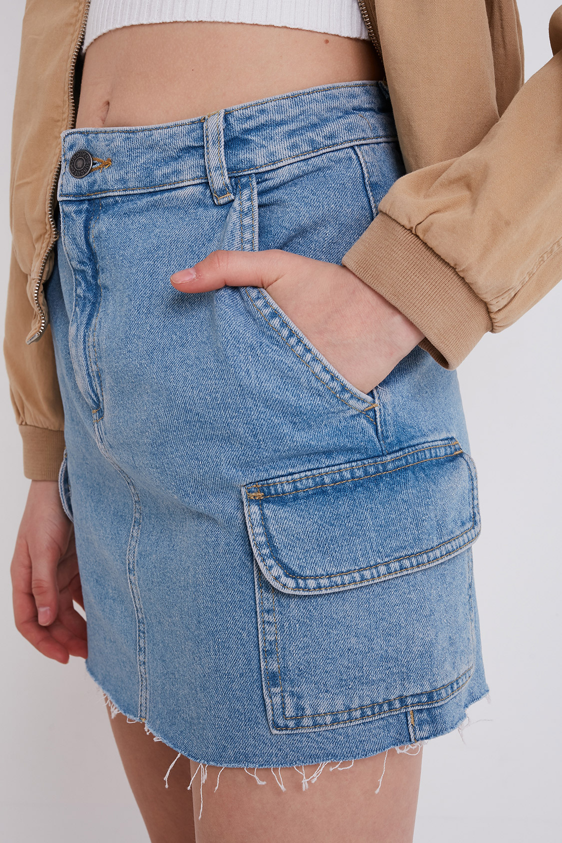 Gonna cargo jeans