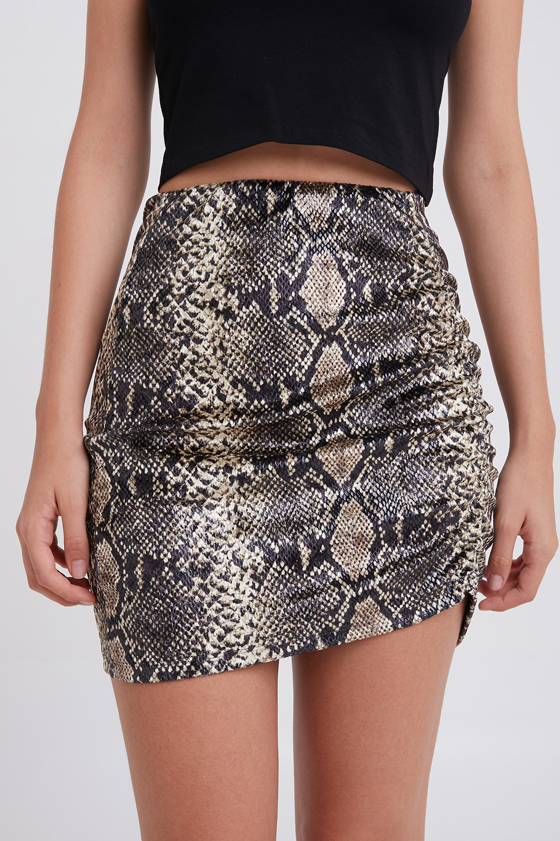 Side Shirred Skirt by Subdued
