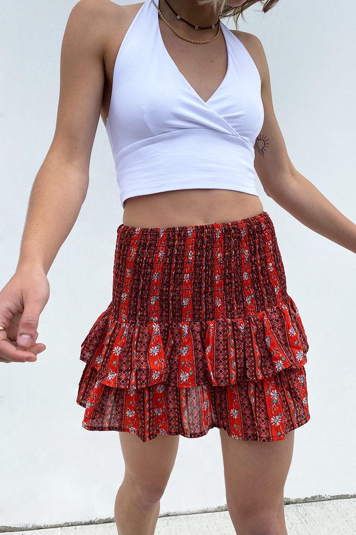 Shirred skirt