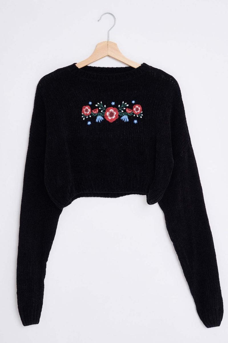 Maglione fiori ciniglia