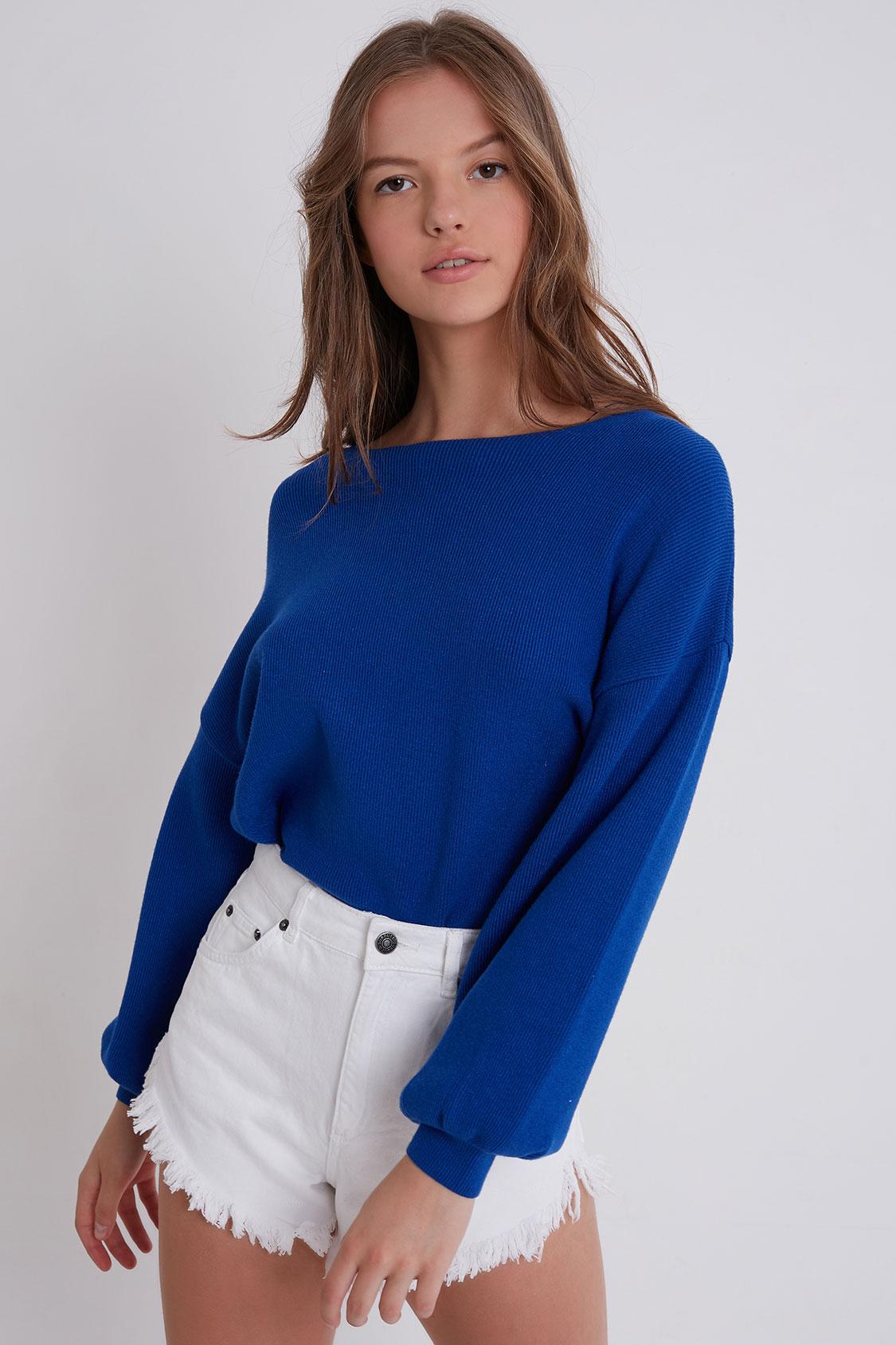 76f9d52ff0707d Balloon sleeve sweater