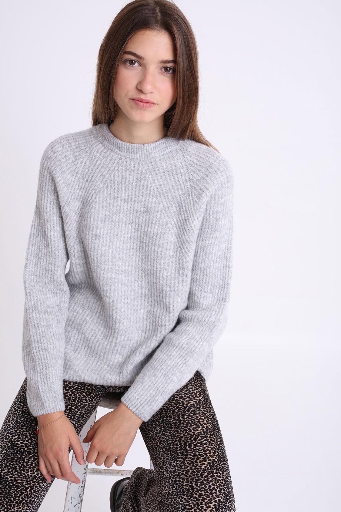 Pullover Rundausschnitt gerippt