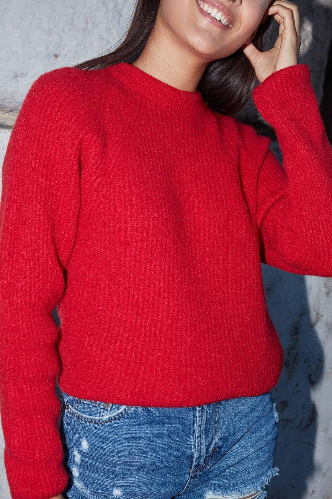 Maglione girocollo raglan