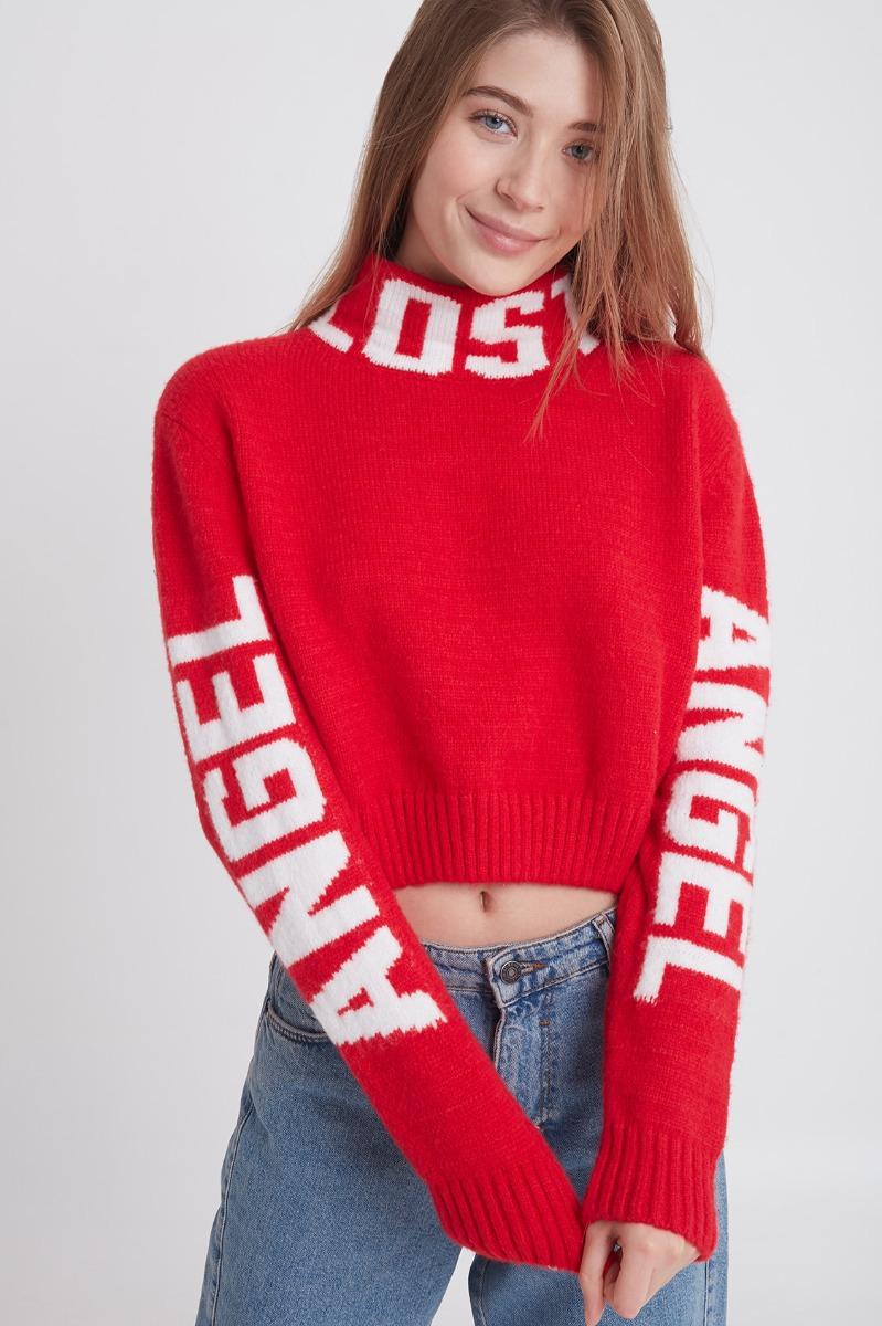 Turtleneck Lost Angel printed jumper