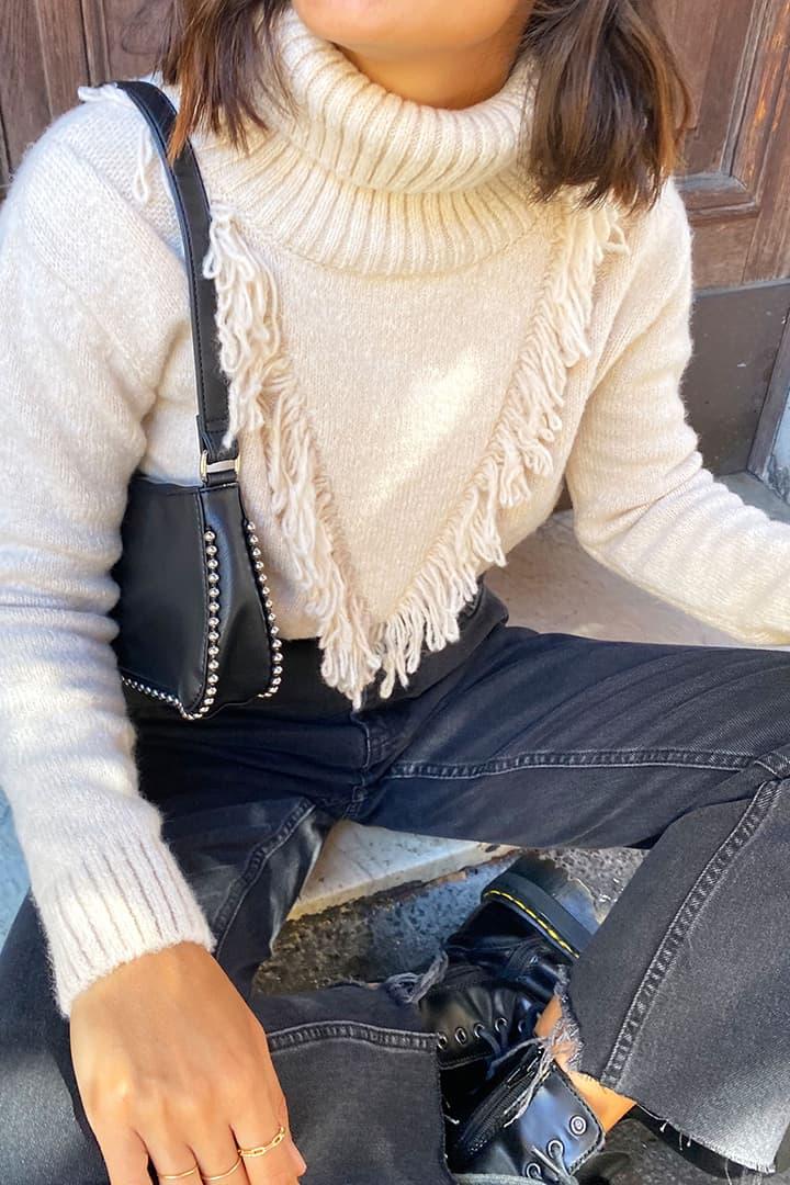 Fringed sweater