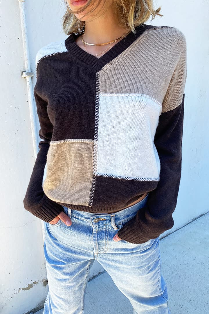 Maglione patchwork