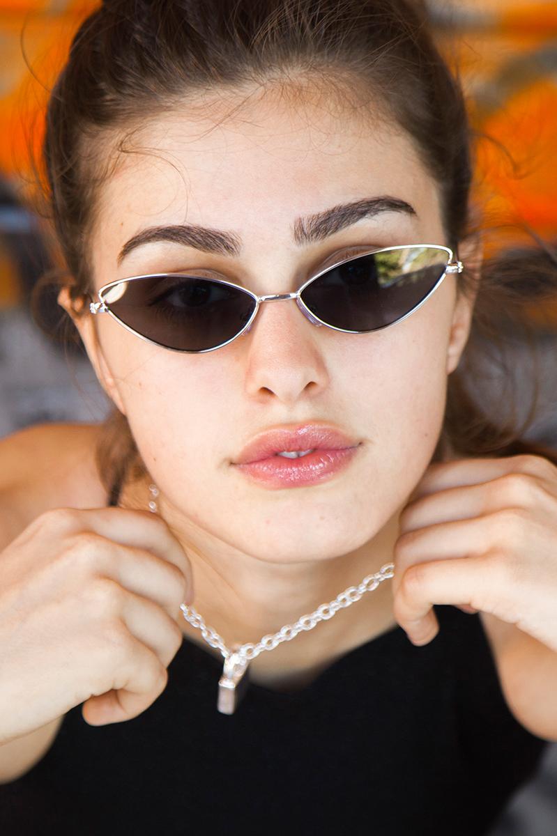 Occhiali da sole in metallo