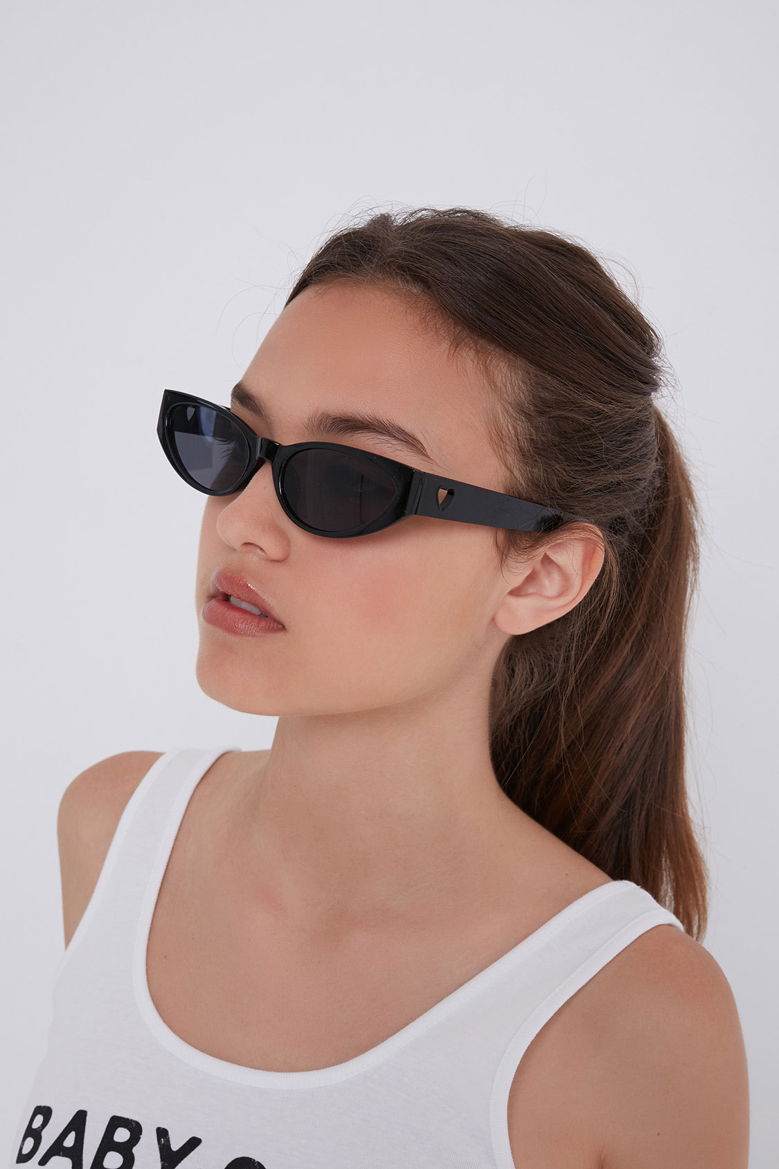 Side heart sunglasses