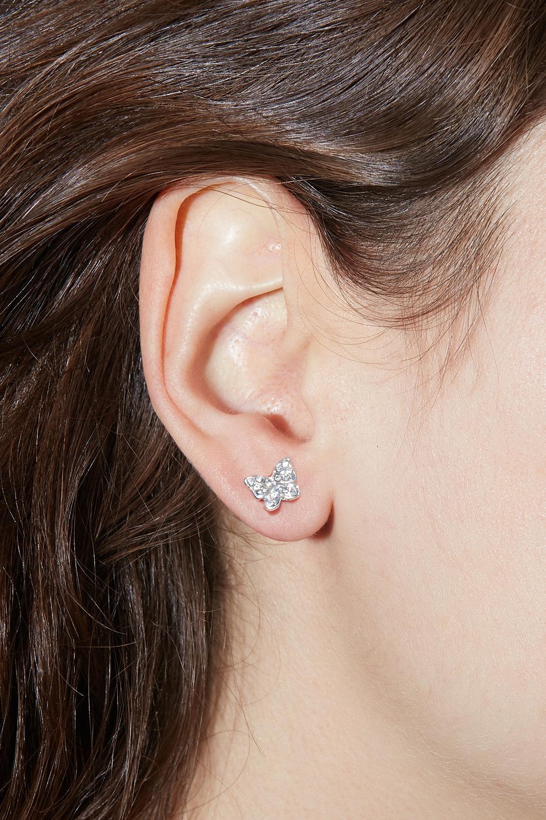 Shiny butterfly earrings