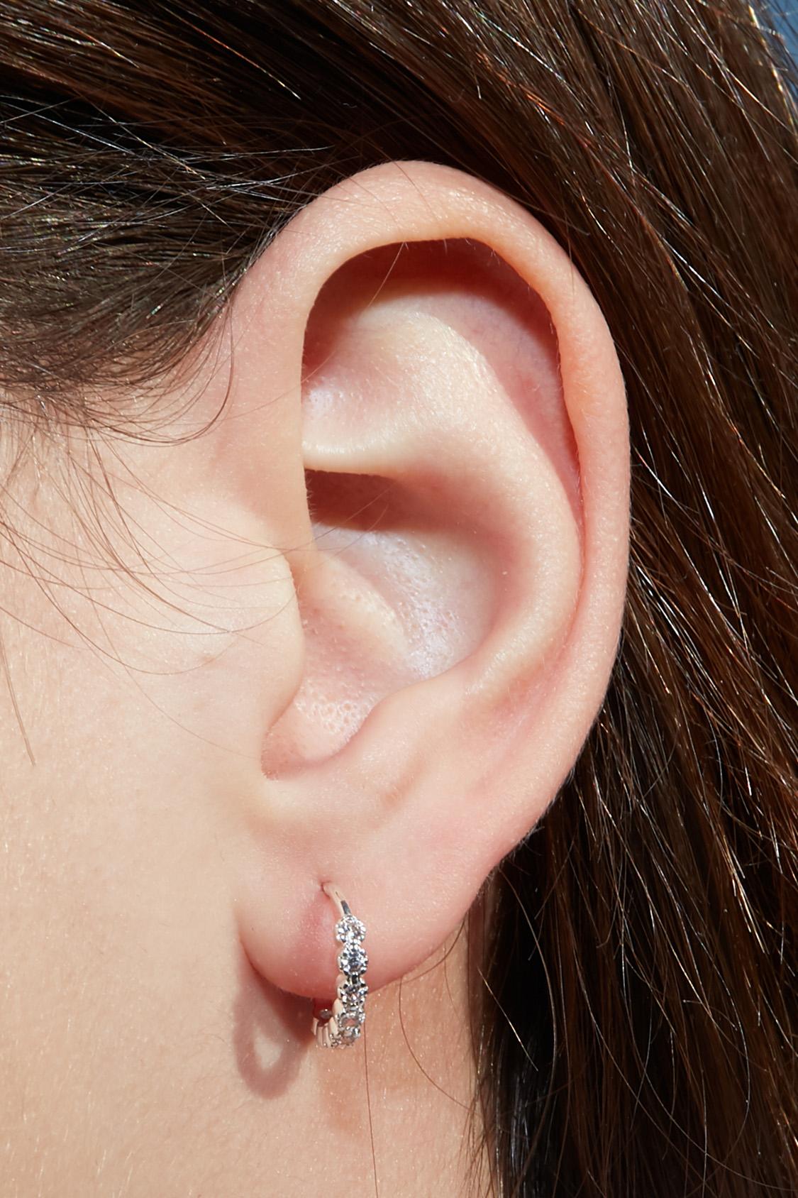 Rhinestones hoop earrings