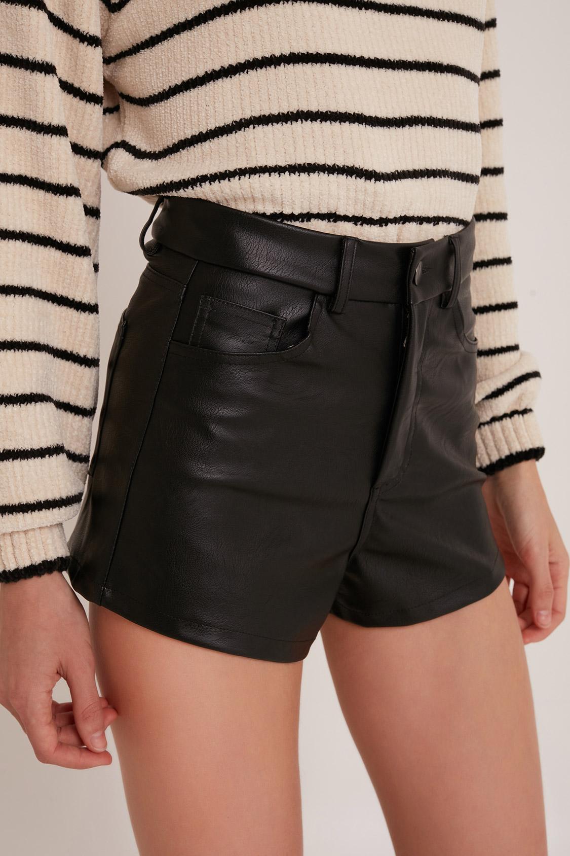 in vendita 33680 cbf90 Faux leather shorts