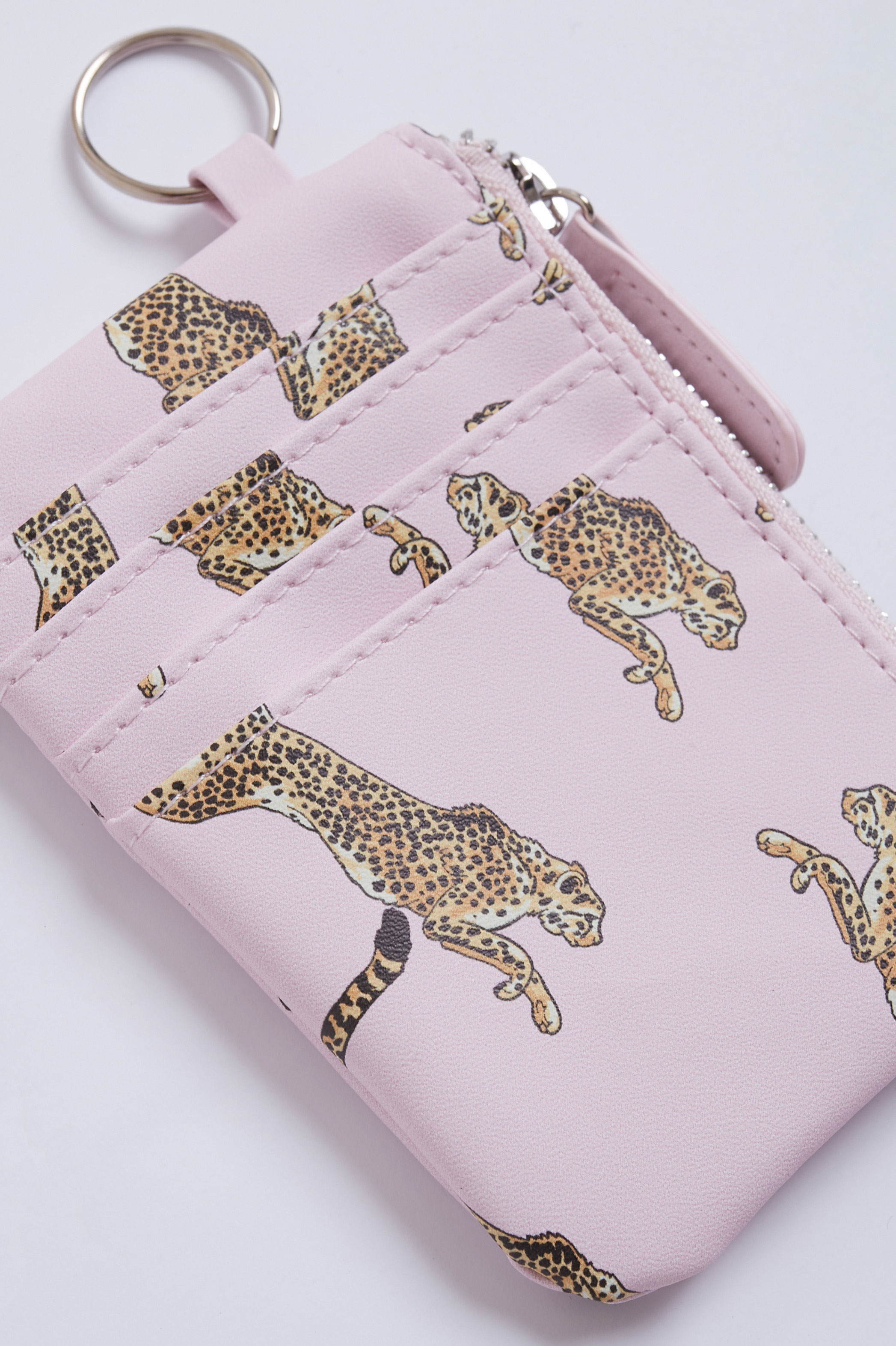 Leopards printed wallet