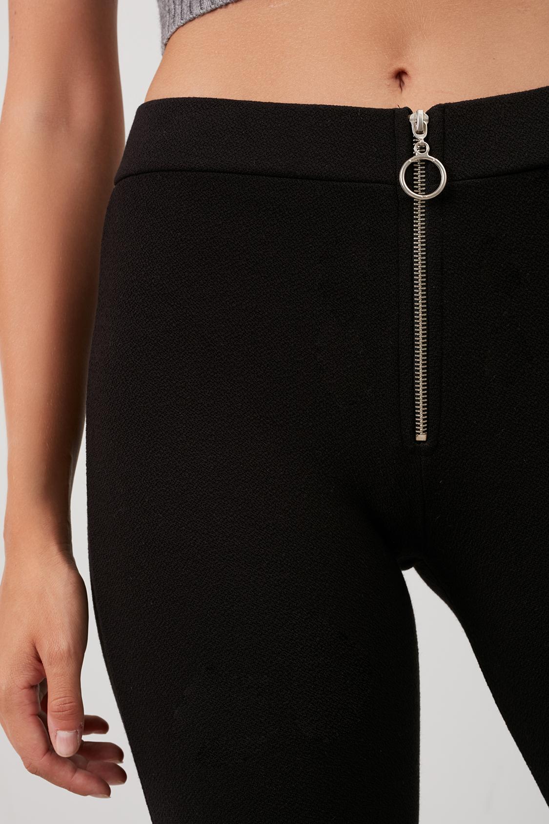Pantaloni zampa zip