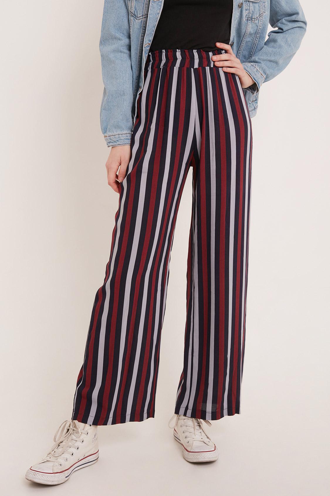 Pantalon palazzo à rayures