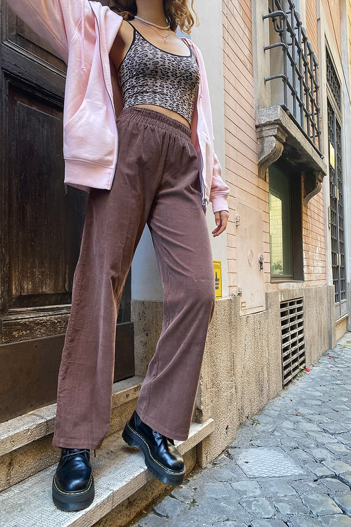 Corduroy palazzo trousers