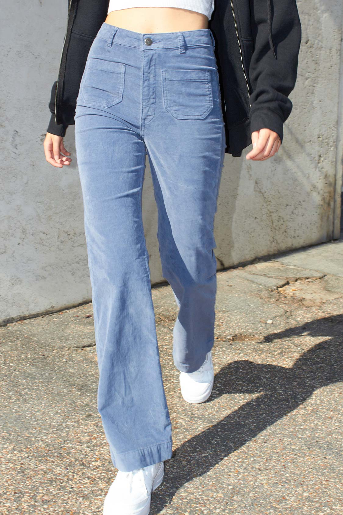 Corduroy flared pants