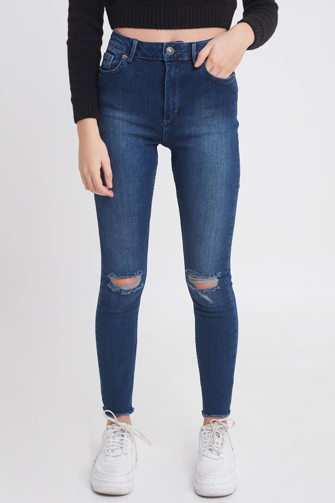6f12f19760 Distressed skinny jeans