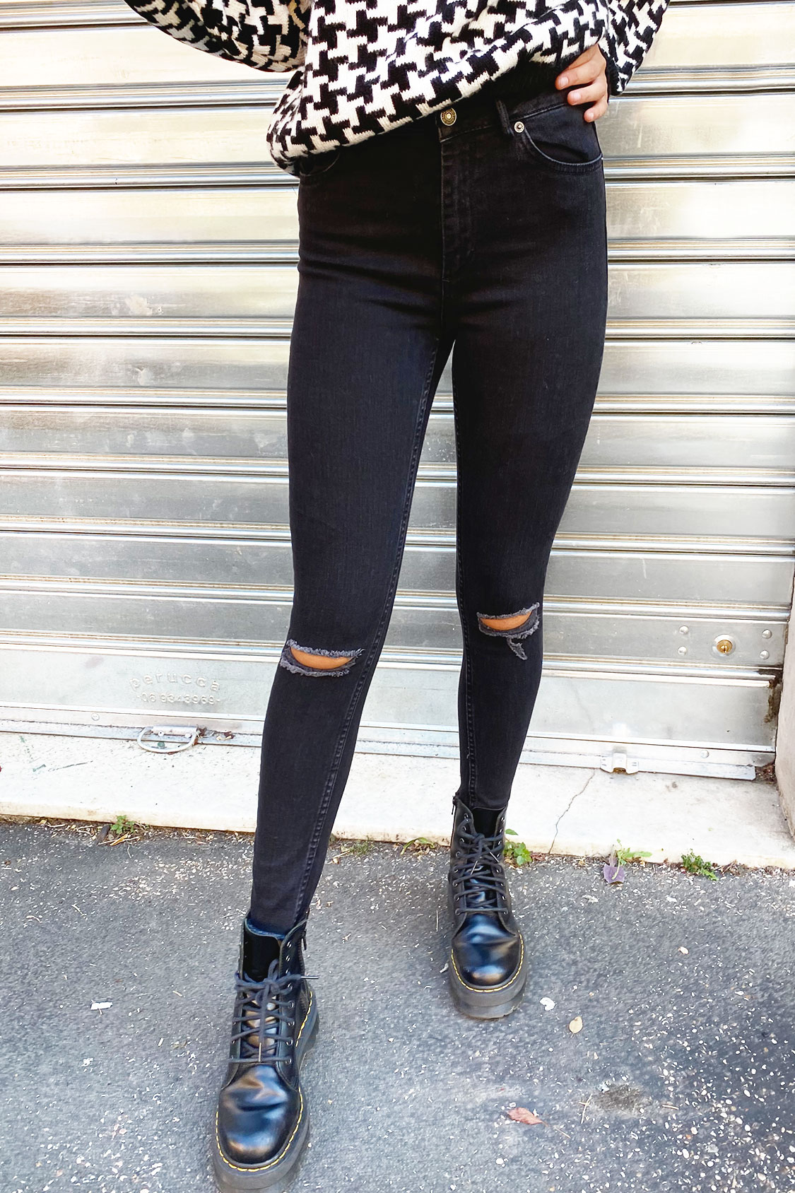 Jeans skinny rotture