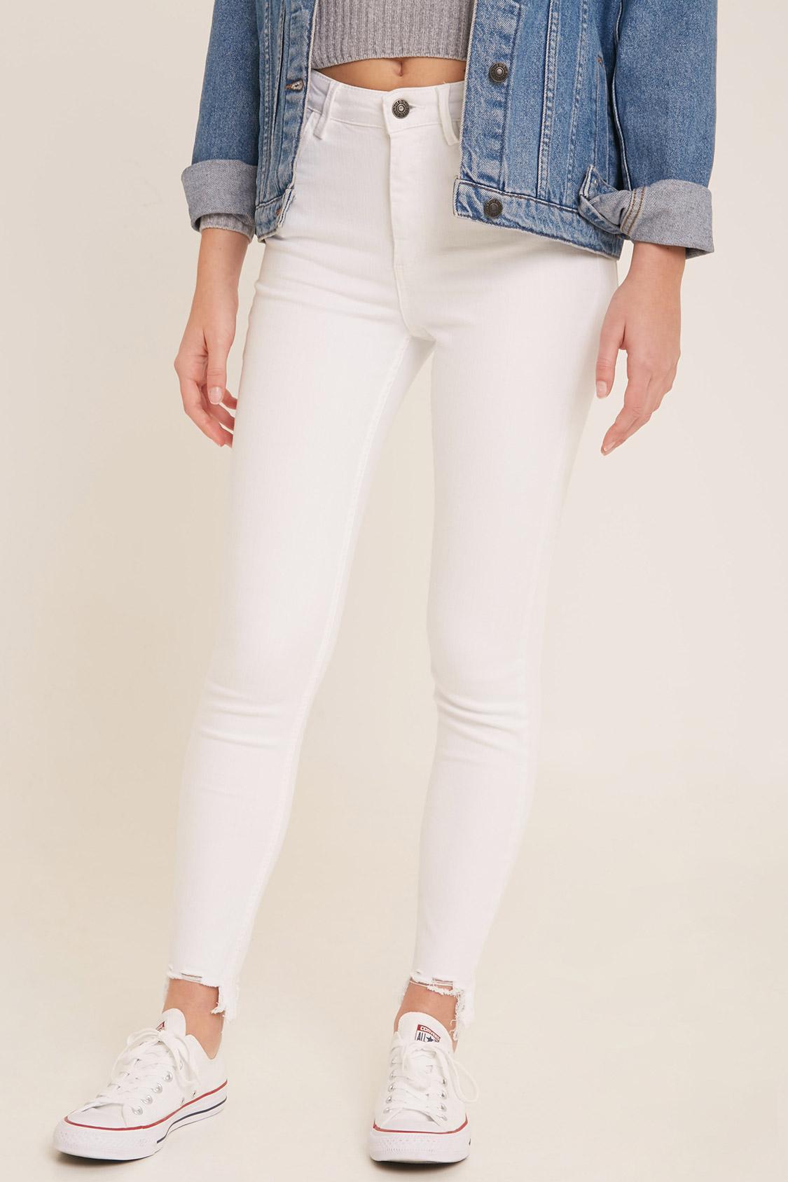 Jeans skinny asimétrico