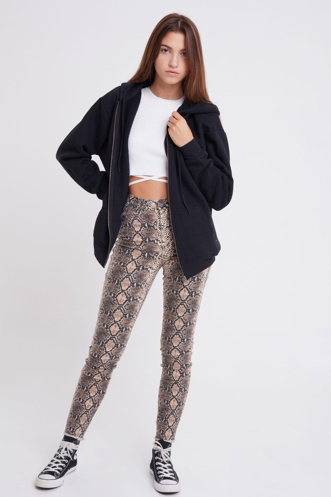 Jeans skinny asimmetrico