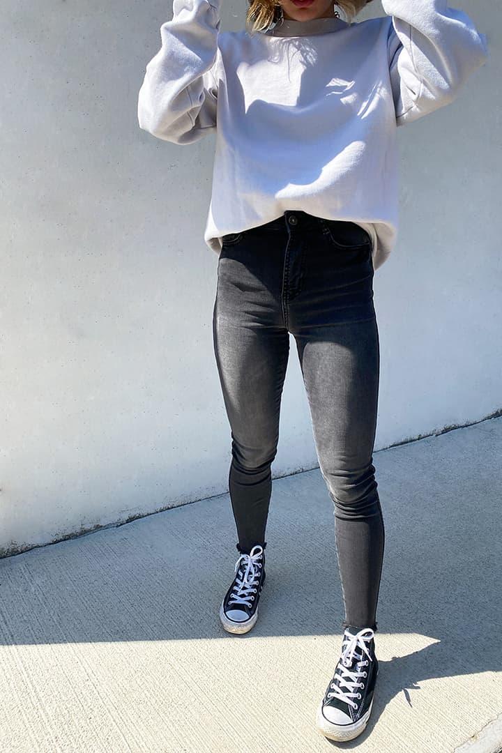 Asymmetric skinny jeans
