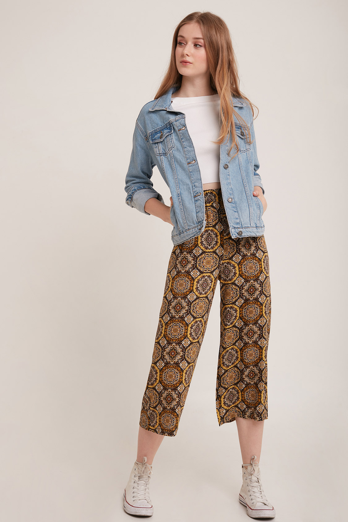 Pantalones culotte crop