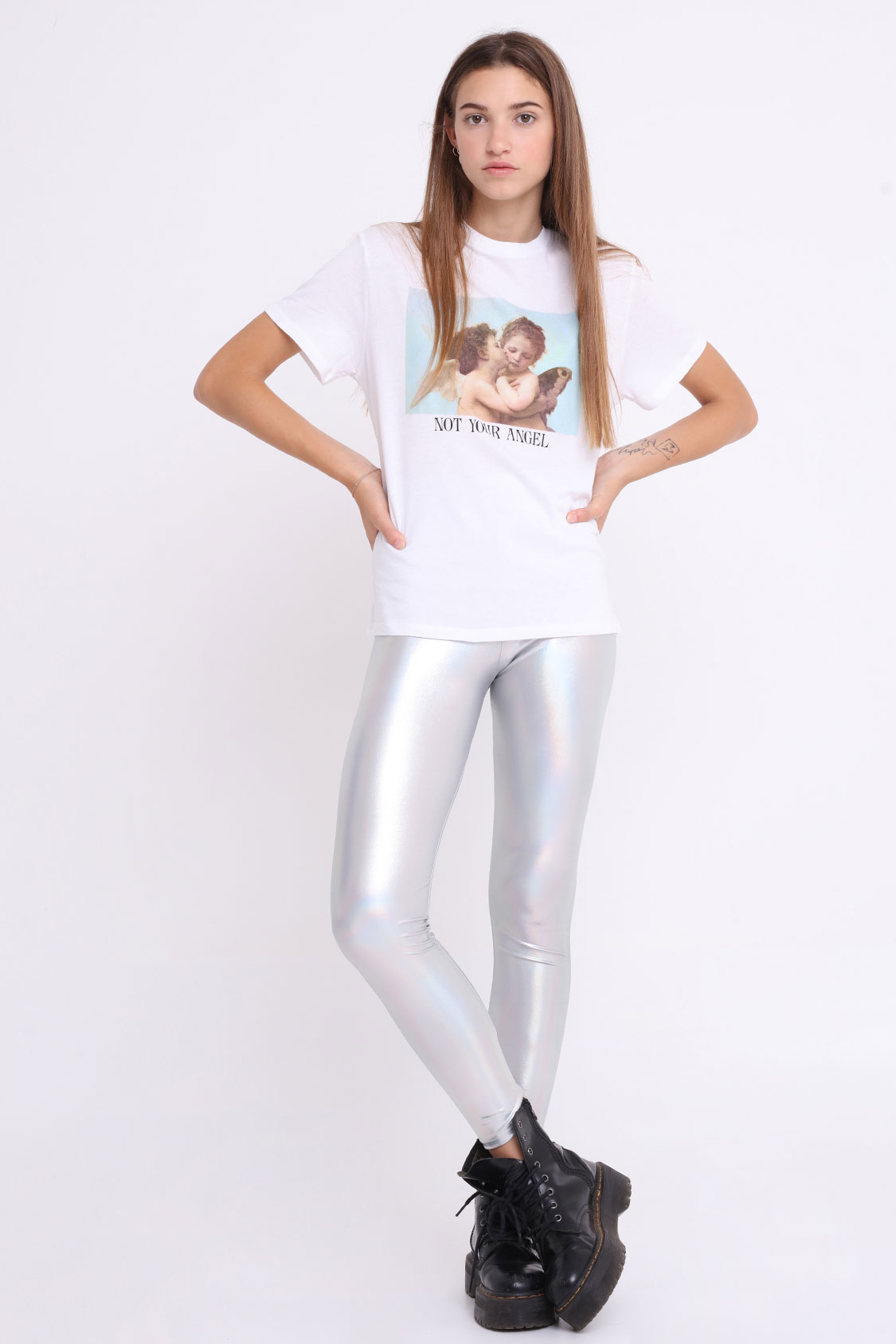 Leggings metallici