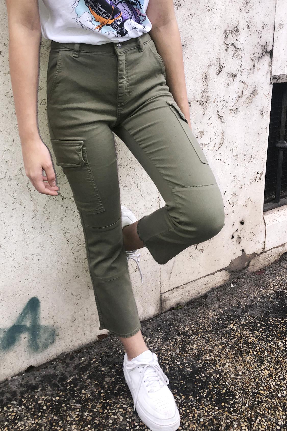 Pantalon combat crop