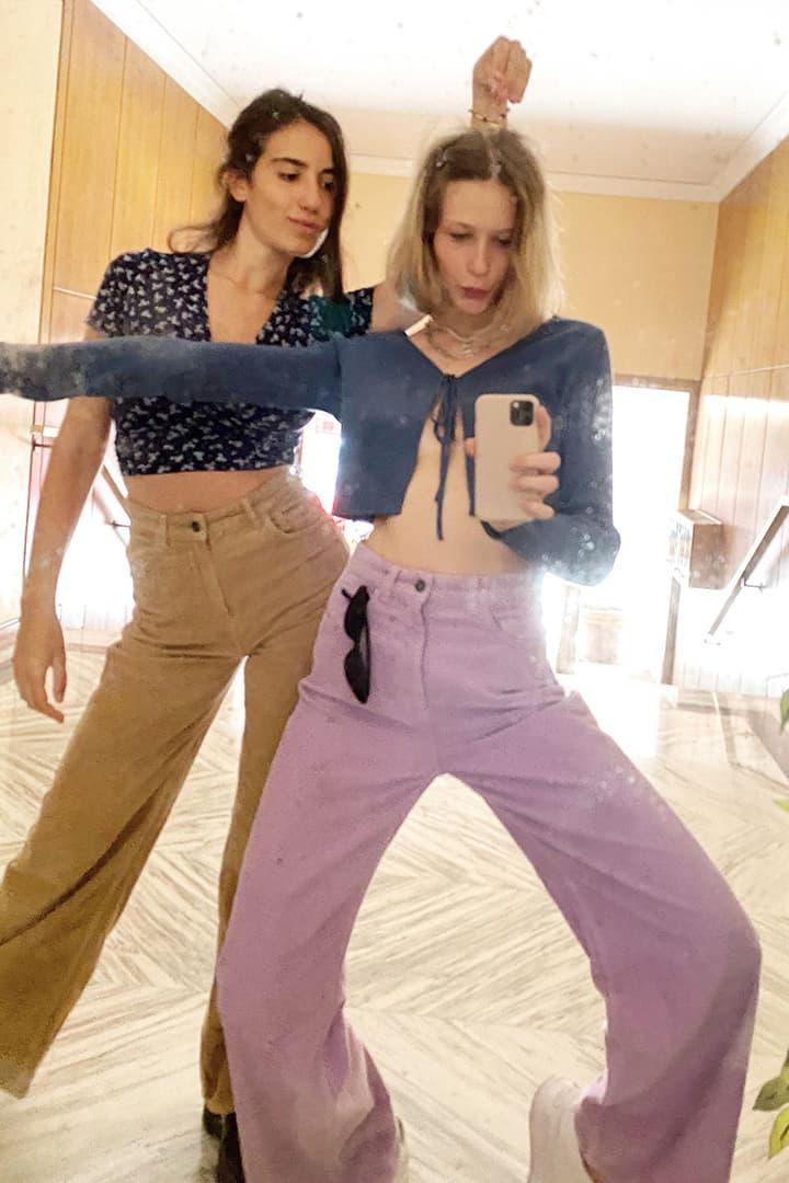 Pantaloni palazzo corduroy