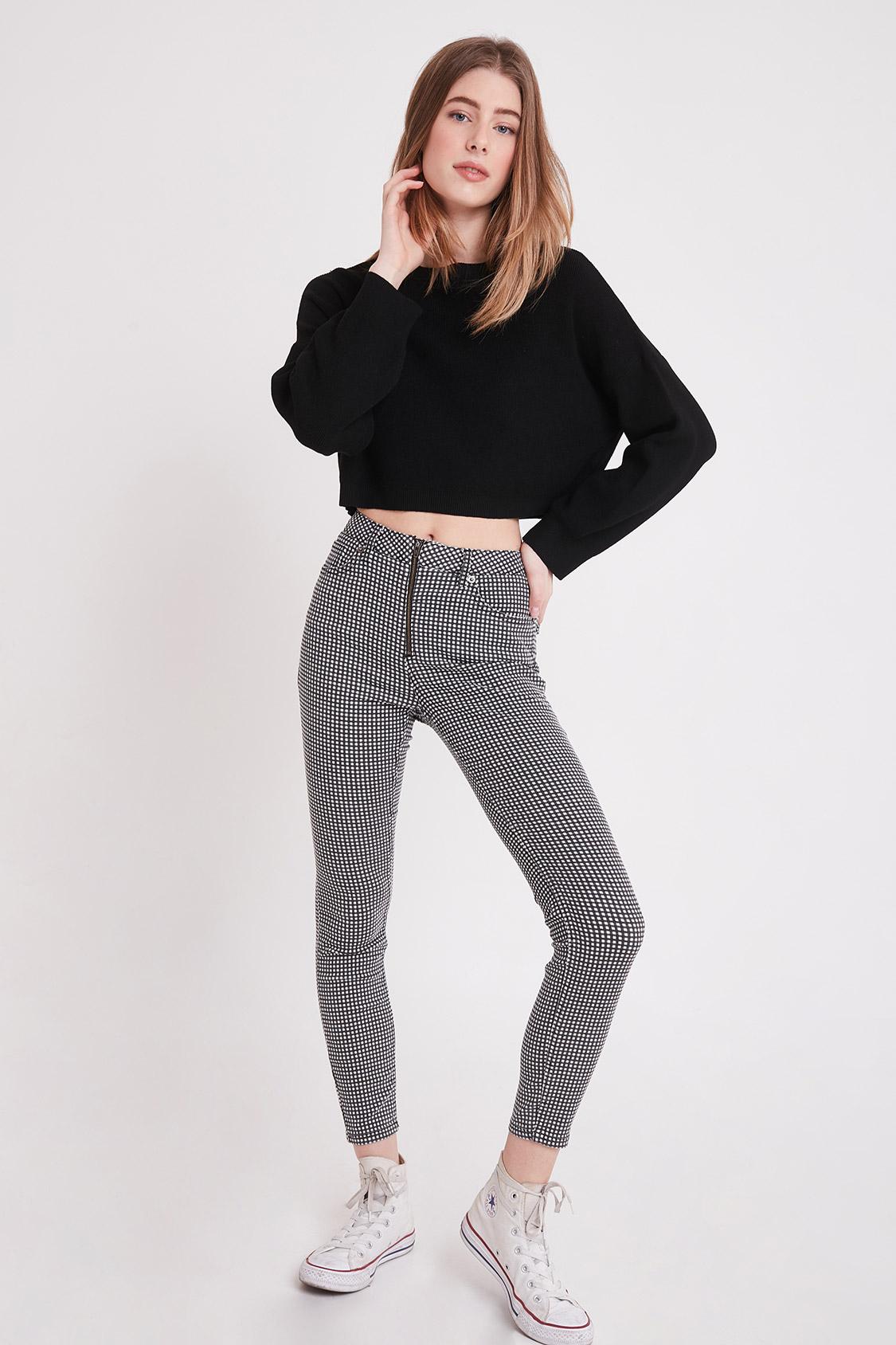 Pantaloni skinny quadretti