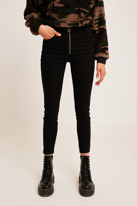 Jeans skinny zip