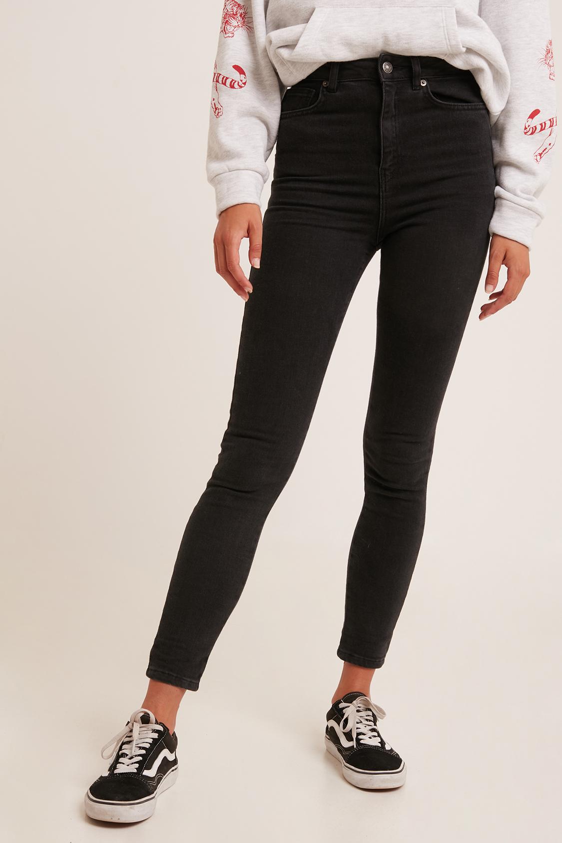Jean skinny taille super haute