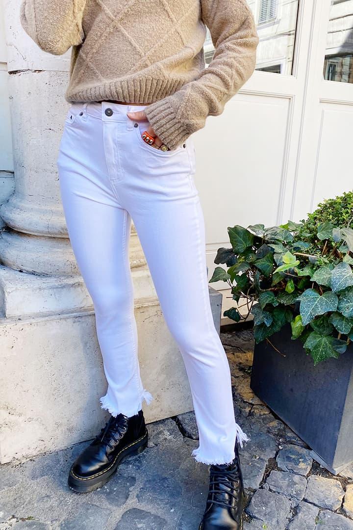 Jeans a sigaretta frange