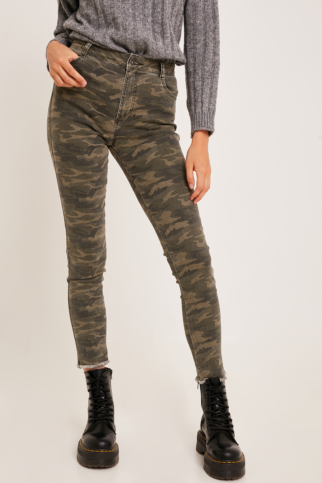 Jeans skinny camouflage