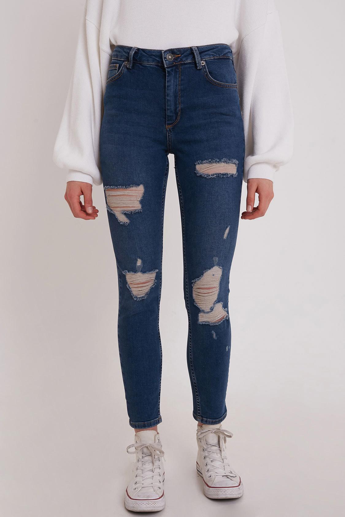 Jeans skinny strappi