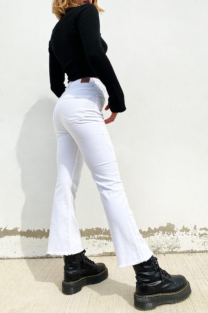 Jeans zampetta crop