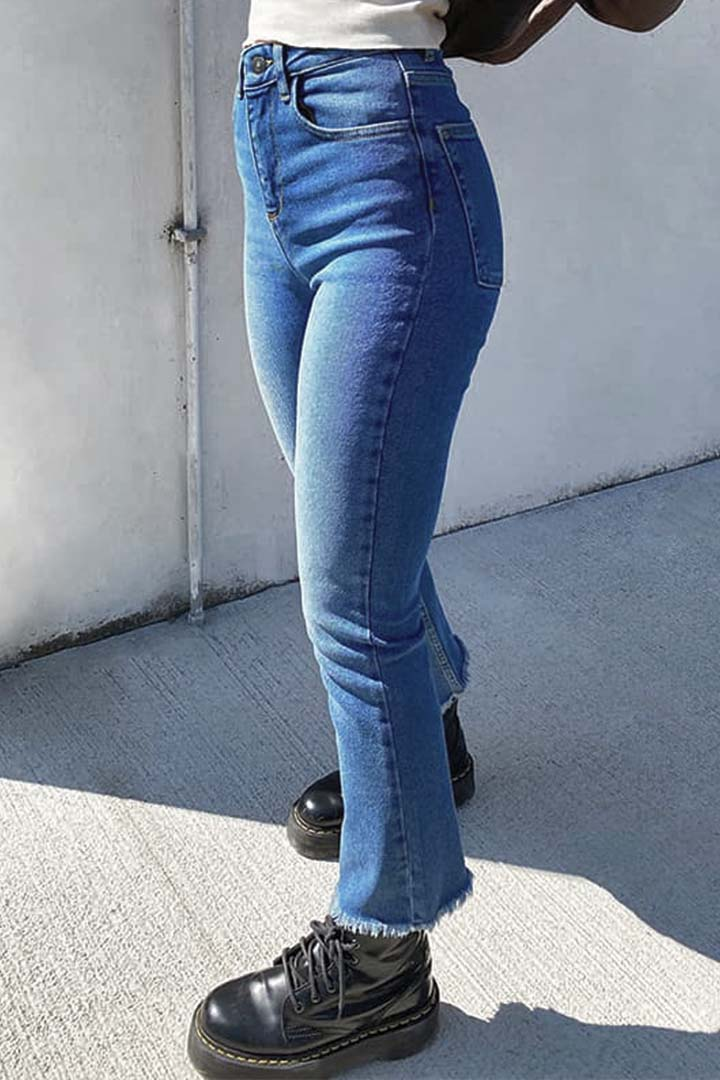 Jeans flare crop
