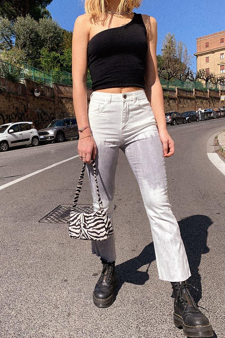 Pantalone zampetta crop