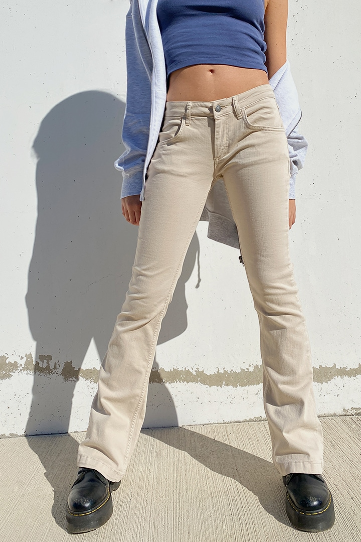 Low rise flared pants
