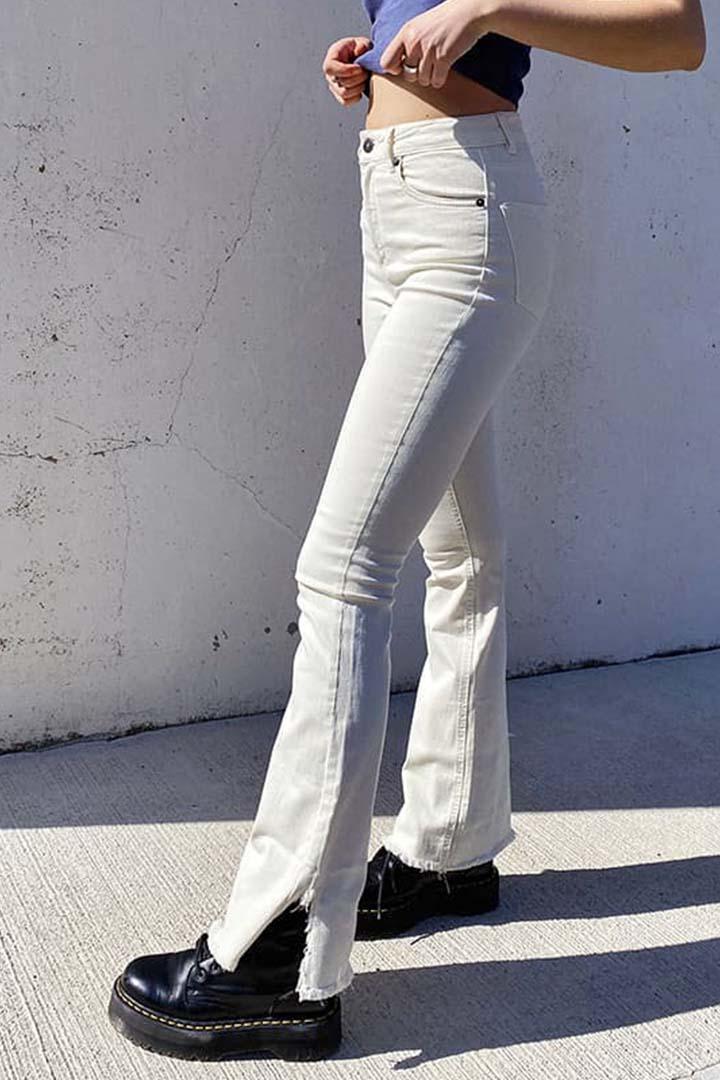 Jeans campana abertura lateral