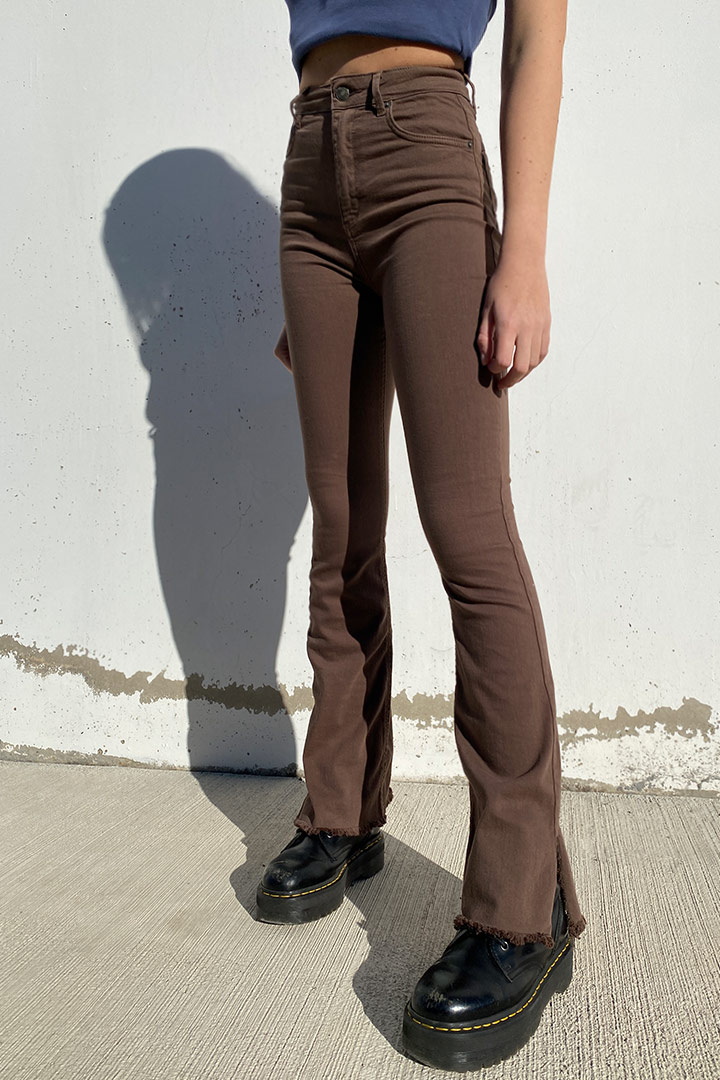 Side split flared pants