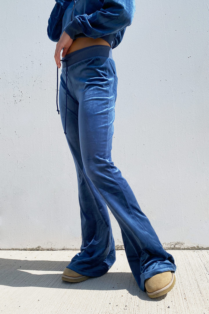 Chenille flared pants