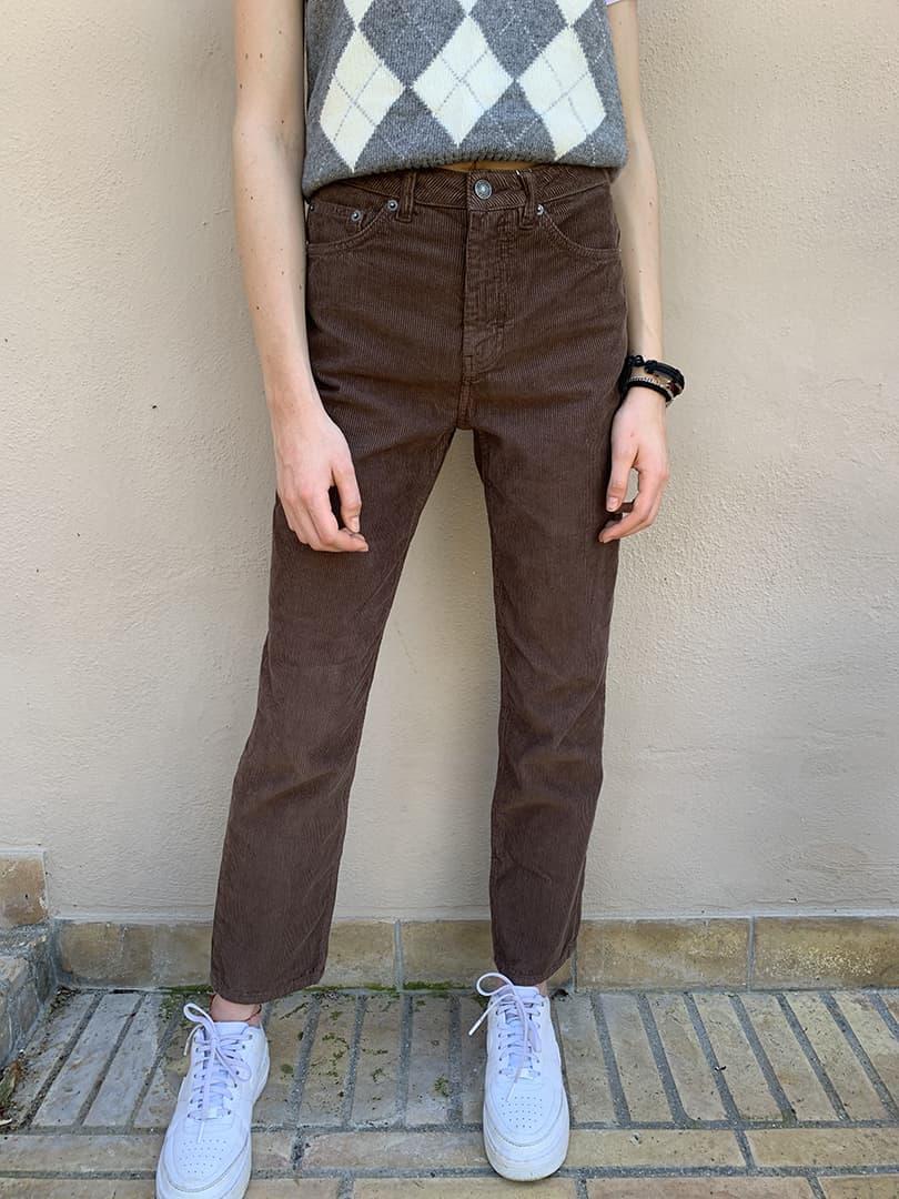 Pantaloni boyfriend corduroy