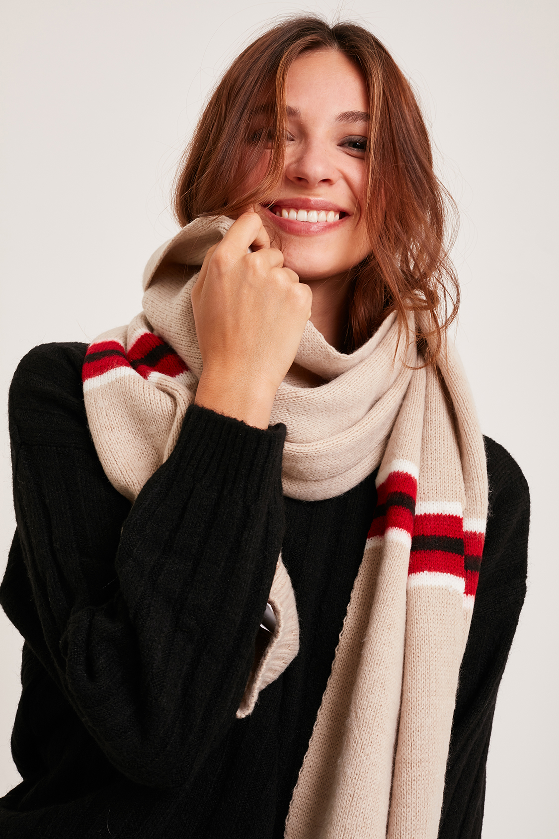 Vertical stripes scarf