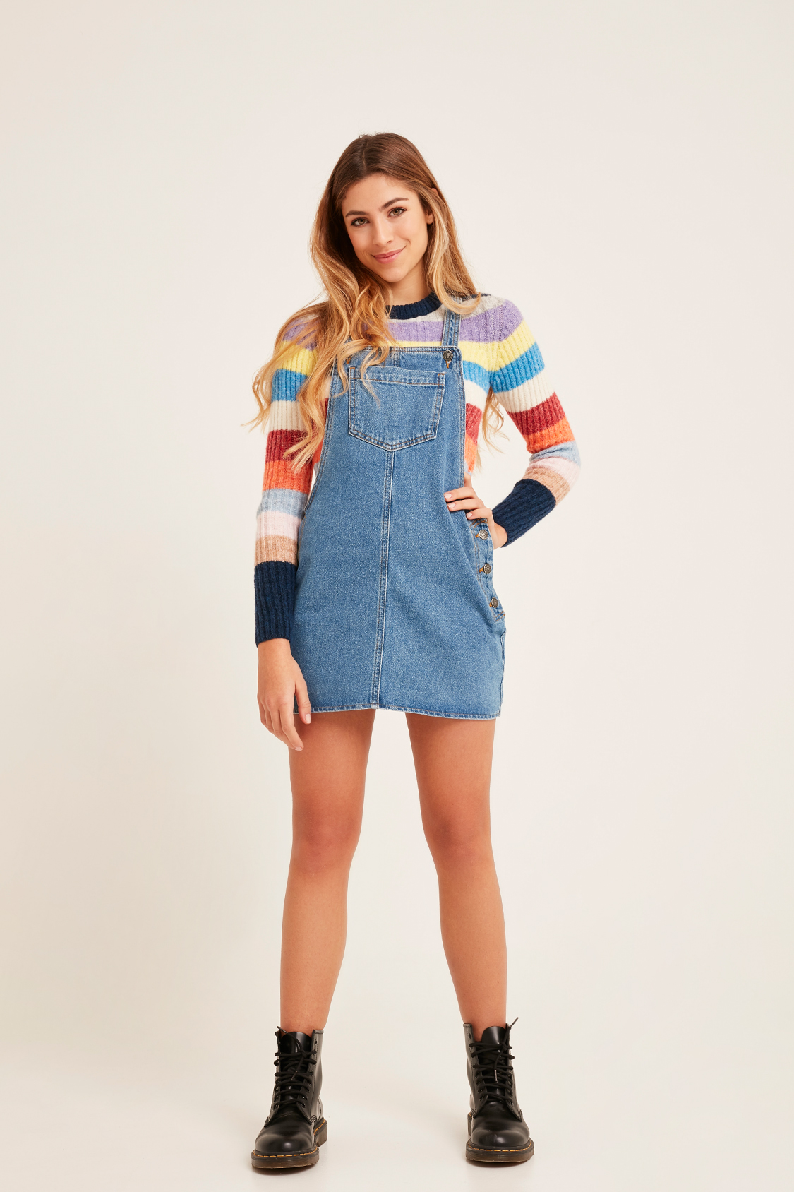 1a4300fd5ba Dungaree denim dress. Skip to the beginning of the images gallery