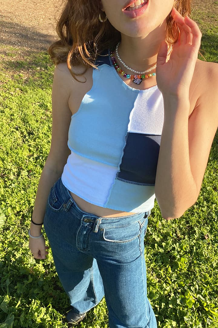 Crop top patchwork
