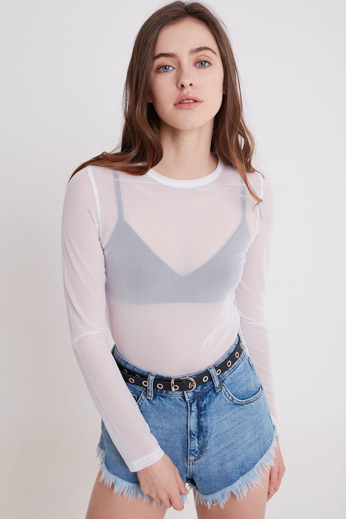 T-Shirt durchsichtig
