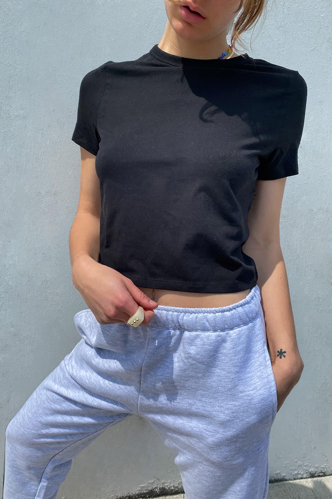 Camiseta cuello redondo corta