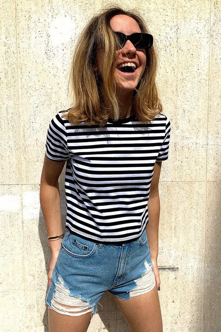 T-shirt girocollo corta