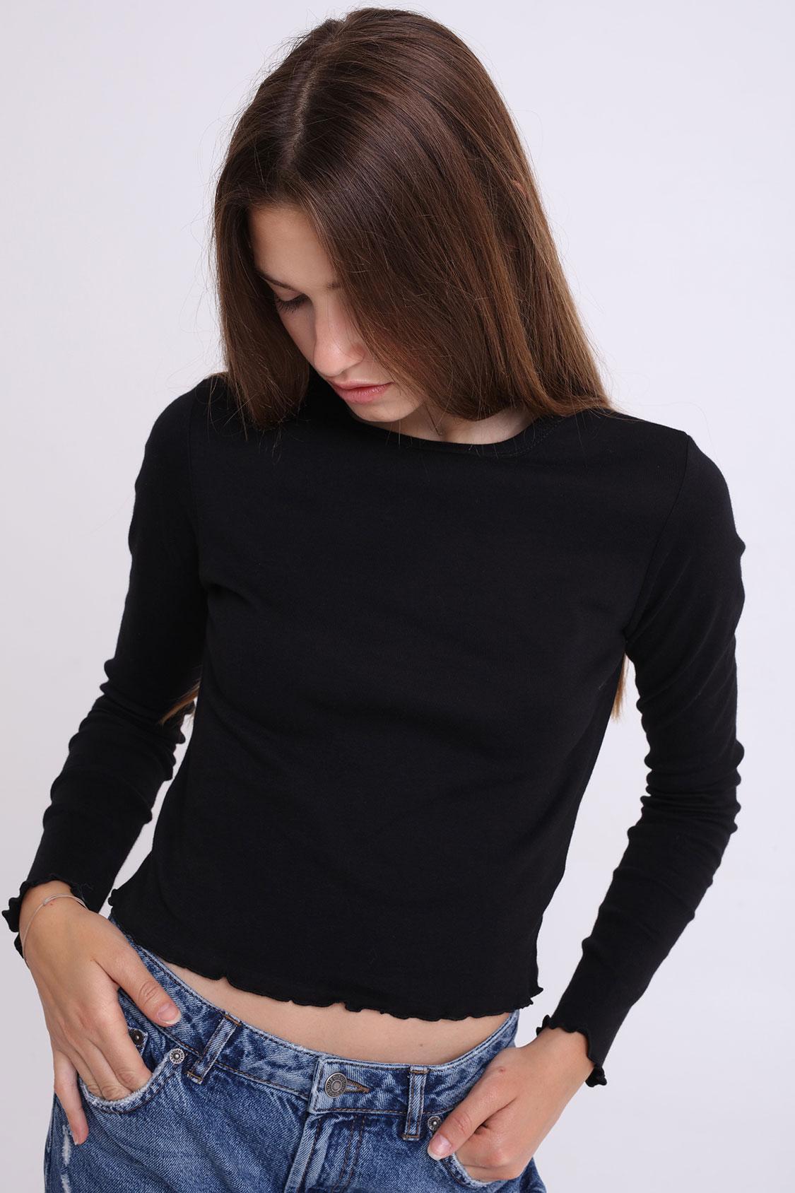 T-shirt fondo arricciato